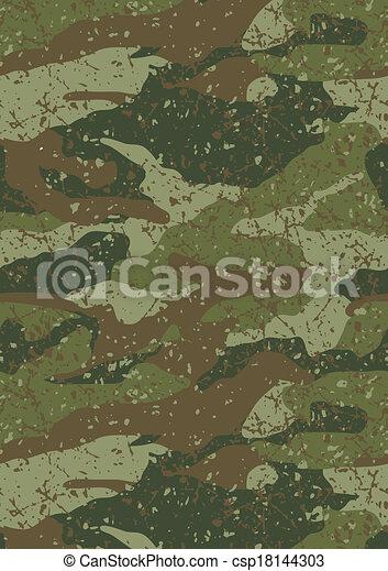 dzsungel, pattern., sár, álcáz - csp18144303