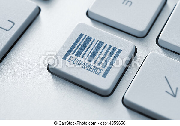e-commerce, gombol - csp14353656