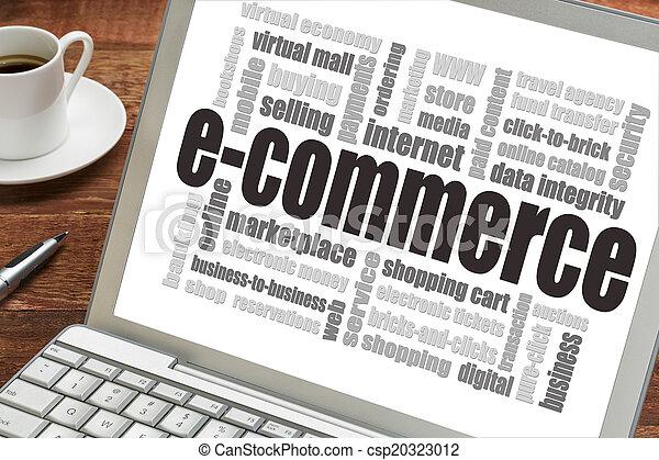 e-commerce, szó, felhő - csp20323012