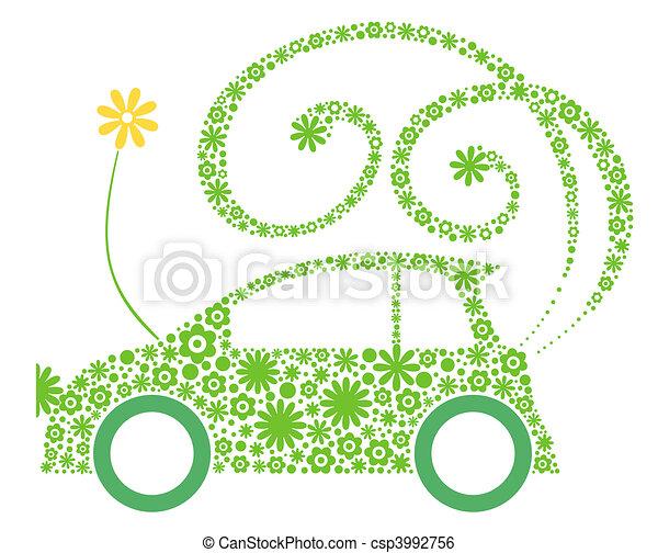eco, autó, barátságos - csp3992756