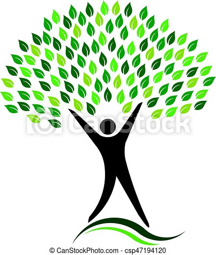 eco, jel, fa, barátságos, ember - csp47194120