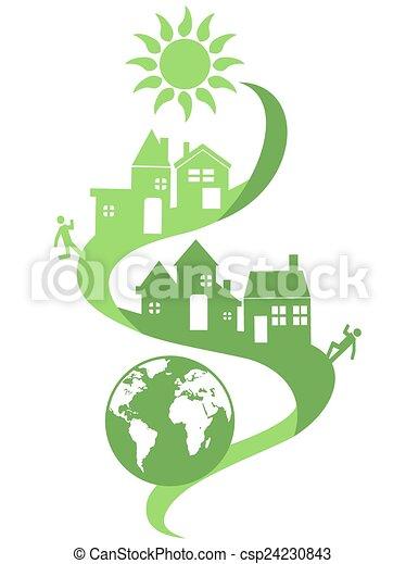 eco, természetes, közösség, háttér - csp24230843