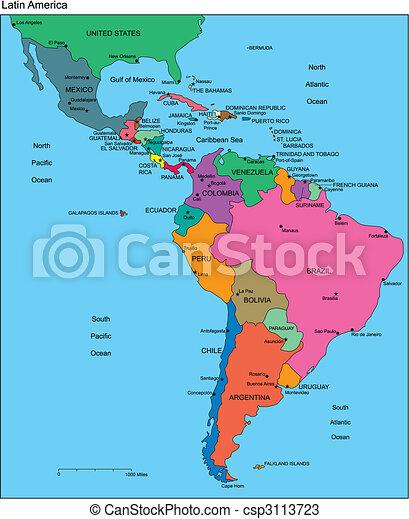 editable, latin, országok, címek, amerika - csp3113723