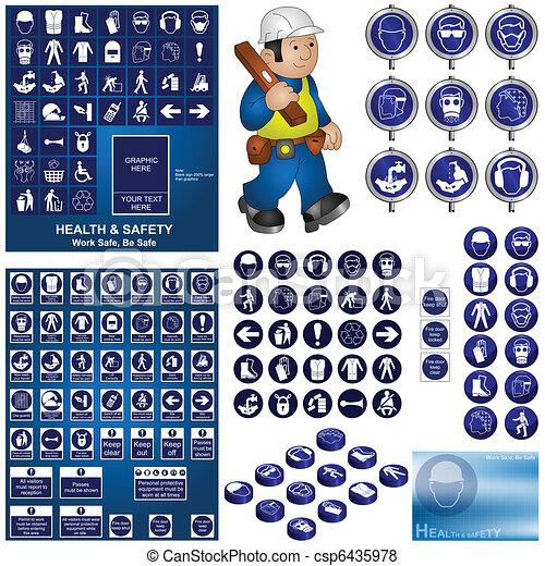 egészség, biztonság, gyűjtés - csp6435978