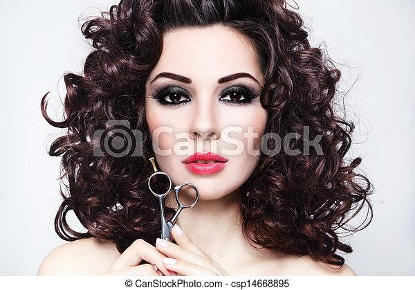 egészséges, haj - csp14668895