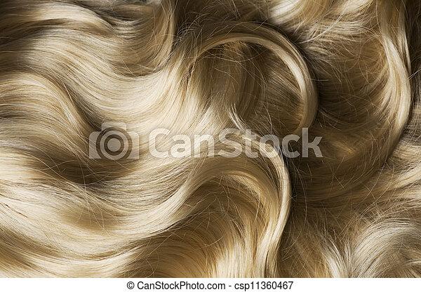 egészséges, haj, szőke - csp11360467