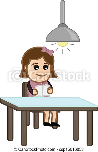 egyedül, woman olvas - csp15016853