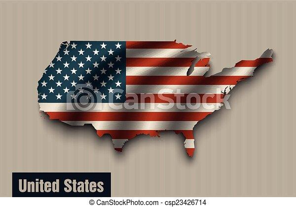 egyesült államok, egyesült, háttér, lobogó, szüret - csp23426714