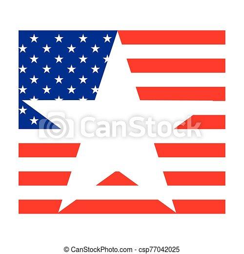 egyesült államok, háttér, lobogó, fehér, egyesült - csp77042025