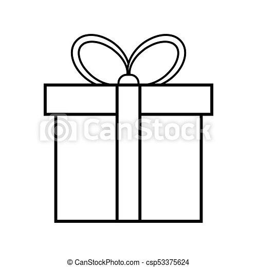 egyszerű, elszigetelt, tervezés, háttér, white christmas, ajándék, ikon - csp53375624