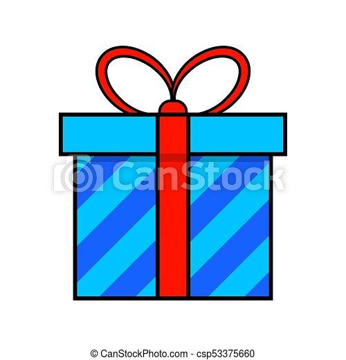 egyszerű, elszigetelt, tervezés, háttér, white christmas, ajándék, ikon - csp53375660