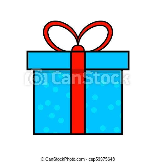 egyszerű, elszigetelt, tervezés, háttér, white christmas, ajándék, ikon - csp53375648
