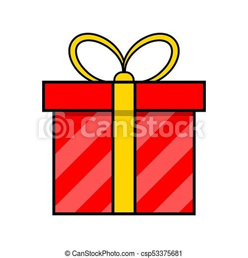 egyszerű, elszigetelt, tervezés, háttér, white christmas, ajándék, ikon - csp53375681