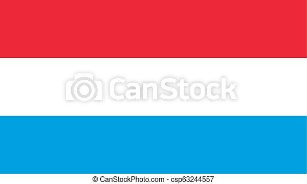 egyszerű, luxemborg, lobogó, tervezés, ikon - csp63244557