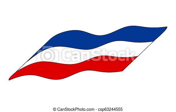 egyszerű, szerbia, elszigetelt, lobogó, tervezés, háttér, fehér, ikon - csp63244555