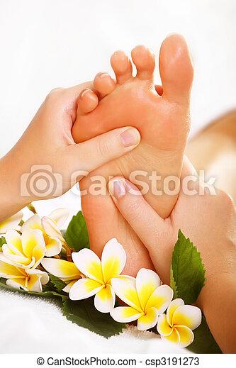 egzotikus, lábfej masszázs - csp3191273