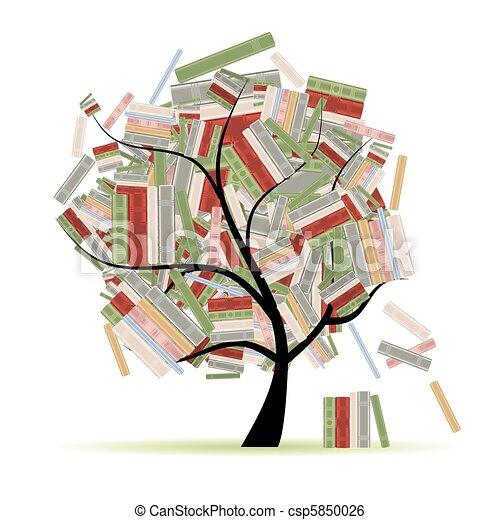 elágazik, fa, könyvtár, előjegyez, tervezés, -e - csp5850026