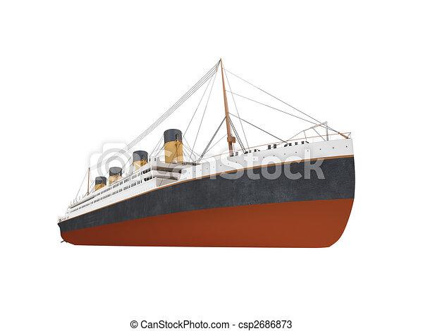elülső, nagy, hajó, személyszállító hajó, kilátás - csp2686873