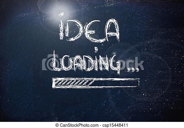 előrehalad, tábla, berakodás, gondolat, bár - csp15448411