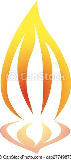 elbocsát, ábra, jelkép, vektor, láng, tervezés - csp27749875
