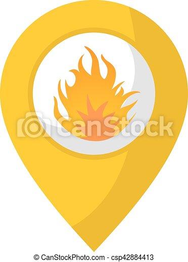elbocsát, elhelyezés, ikon - csp42884413
