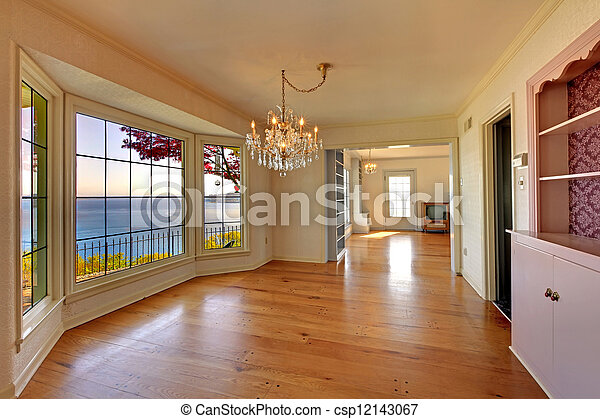 eleven, öreg, szoba, nagy, belső, fireplace., üres - csp12143067