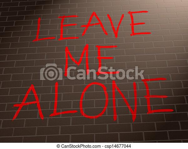elhagy, én, concept., egyedül - csp14677044
