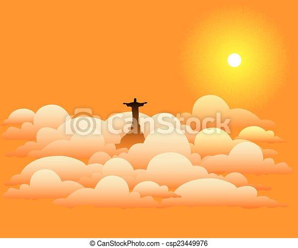 elhomályosul, krisztus, szobor, jézus - csp23449976