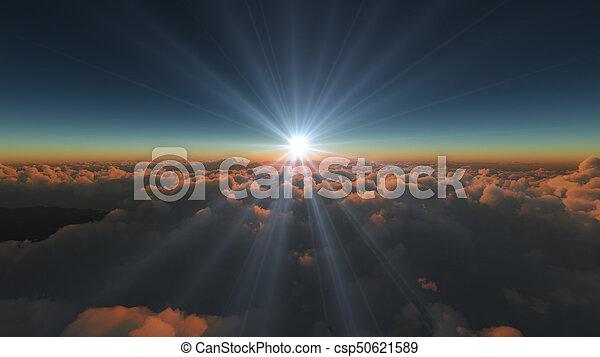 elhomályosul, napkelte, felül - csp50621589
