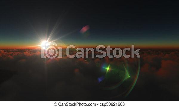 elhomályosul, napkelte, felül - csp50621603