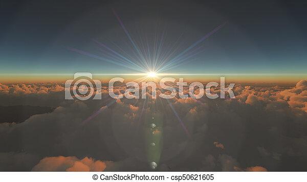 elhomályosul, napkelte, felül - csp50621605