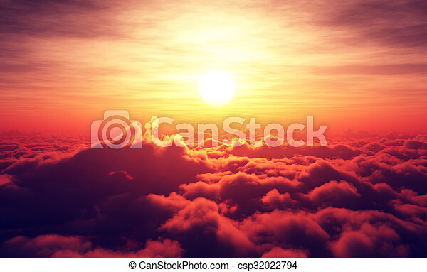 elhomályosul, napkelte, felül - csp32022794