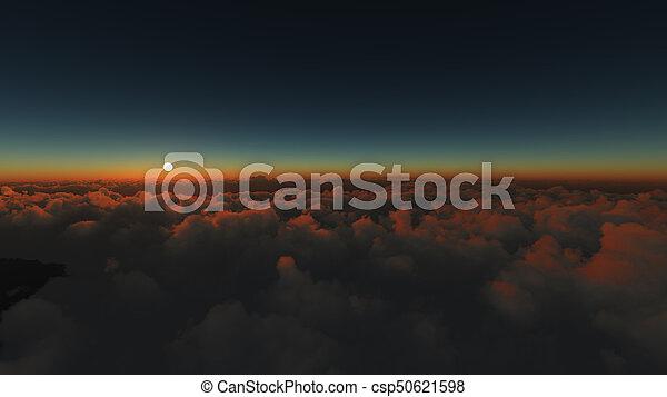 elhomályosul, napkelte, felül - csp50621598
