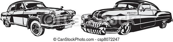 elkészített, autó, -, eps, vektor, retro - csp8072247