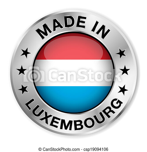 elkészített, jelvény, ezüst, luxemburg - csp19094106