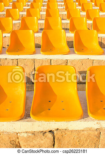 elnökké választ, nap, light., stadion, sárga - csp26223181