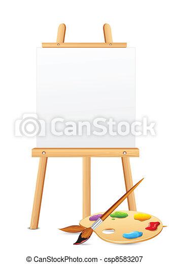 elpirul paletta, festőállvány - csp8583207