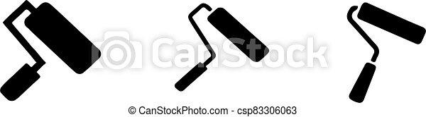 elszigetelt, festék, ikon, háttér, hajcsavaró - csp83306063