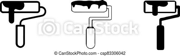 elszigetelt, festék, ikon, háttér, hajcsavaró - csp83306042