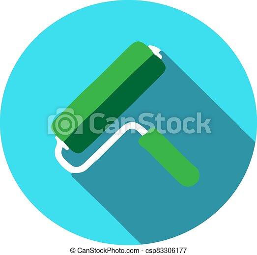 elszigetelt, festék, ikon, háttér, hajcsavaró - csp83306177