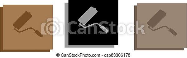 elszigetelt, festék, ikon, háttér, hajcsavaró - csp83306178