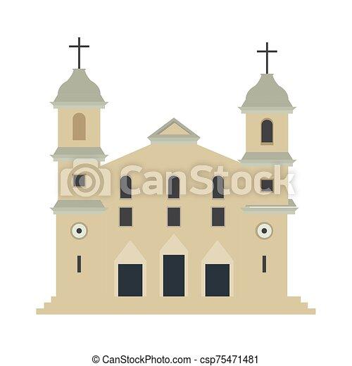 elszigetelt, hagyományos, templom - csp75471481