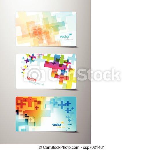 elvont, állhatatos, kereszt, színes, variations. - csp7021481