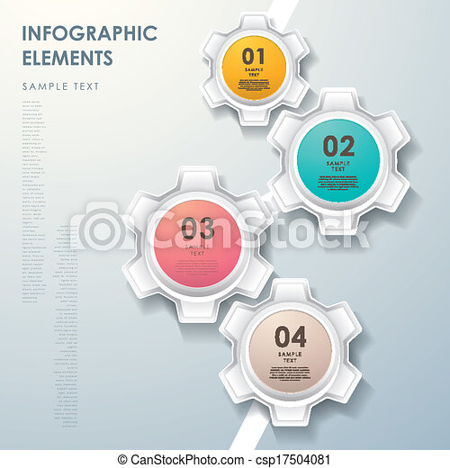 elvont, diagram, folyik, bekapcsol, infographics - csp17504081