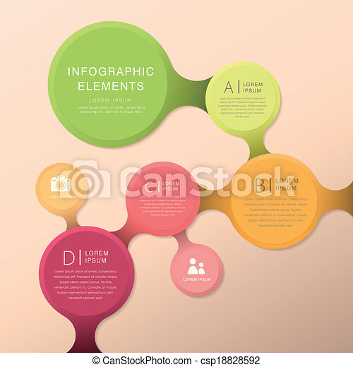 elvont, folyamatábra, infographics - csp18828592