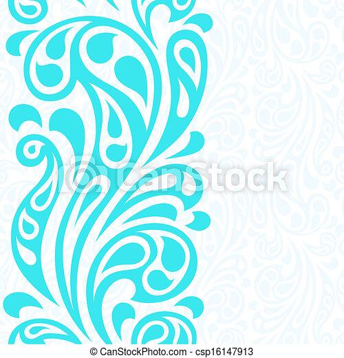 elvont, pattern., seamless, víz, loccsanás, lenget - csp16147913