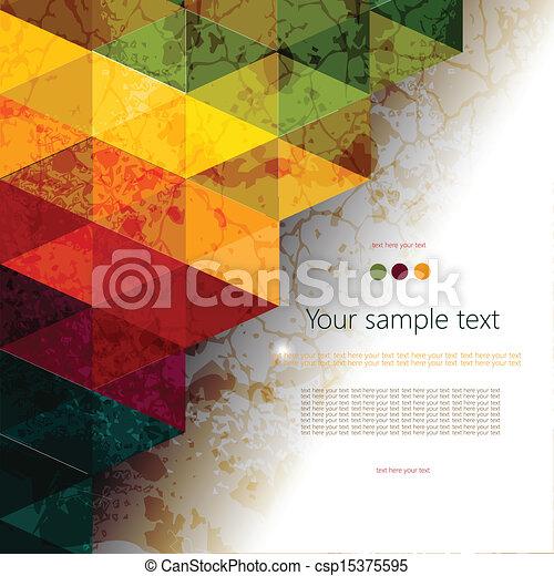 elvont, színes, geometriai, háttér - csp15375595