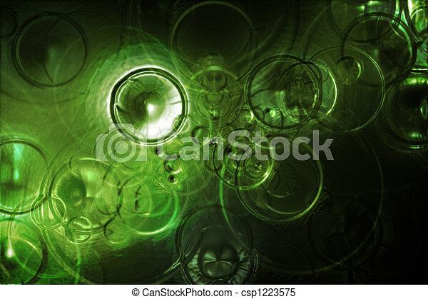 elvont, víz, zöld háttér, esőcseppek, futuristic - csp1223575