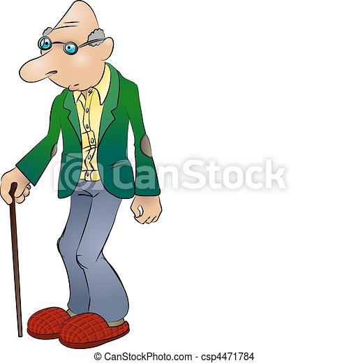 ember, öregedő, ábra - csp4471784