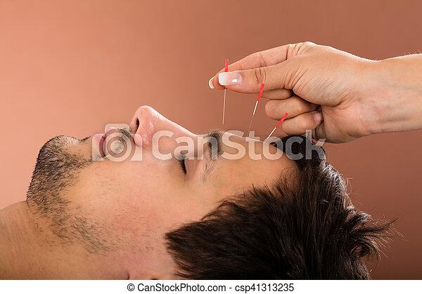 ember, bánásmód, akupunktúra, felfogó - csp41313235